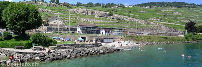 La plage de Rivaz