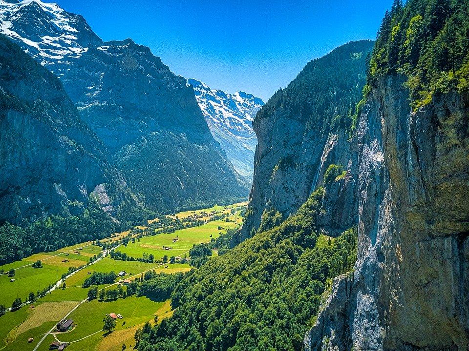 auterbrunnen, Suisse, Montagnes, Paysage, Les Alpes