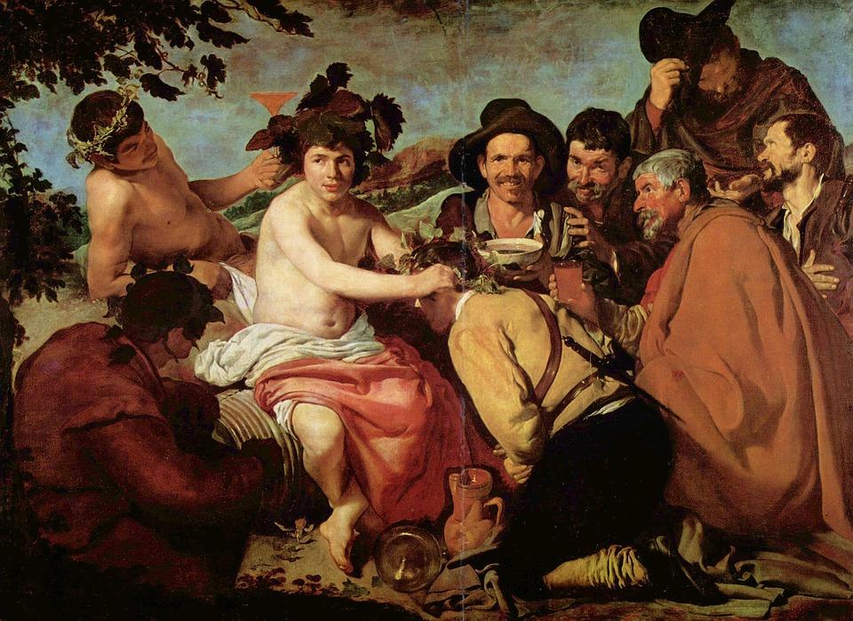 Le Triomphe De Bacchus, Peinture, Les Ivrognes