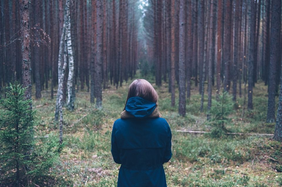 Personne, Des Forêts, En Plein Air, Debout, Retour