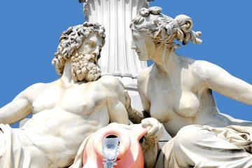 Sculpture, Grec, Statue, Figure, Art, Pilier, Ciel